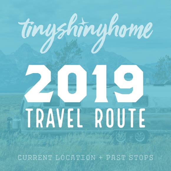 2019 Travel Route - Current Location and past stops