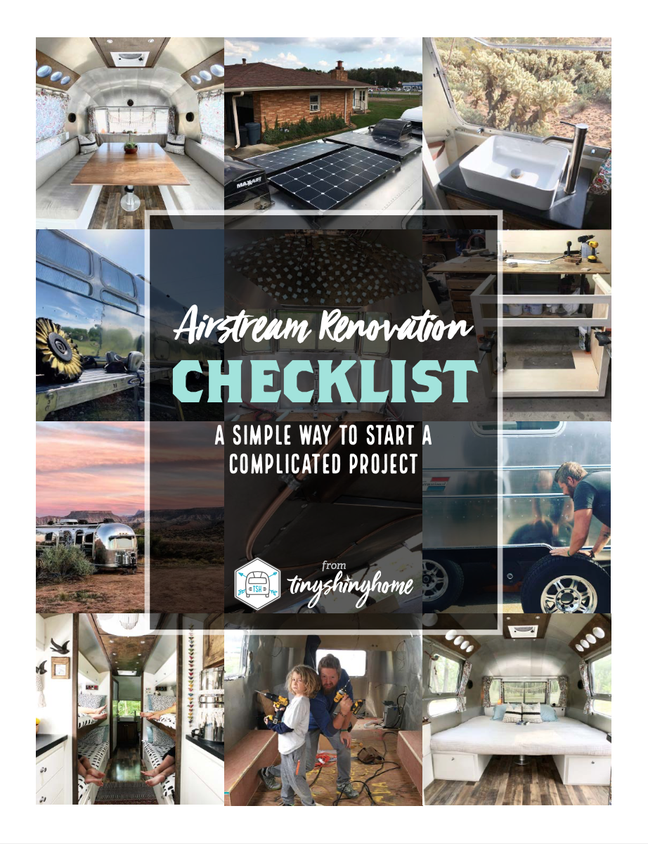 Airstream Renovation Checklist Guide - A simple way to start a complicated project.