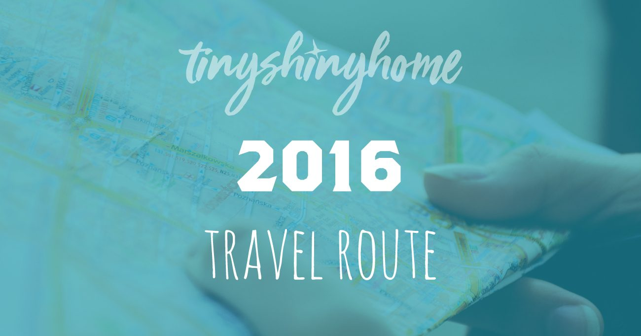 2016 Travel Route