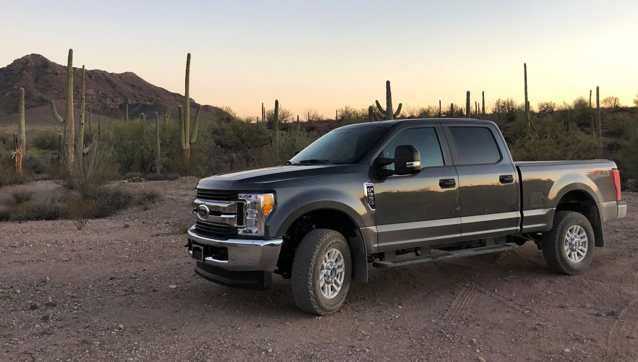 2017 Ford F250 At Sunset