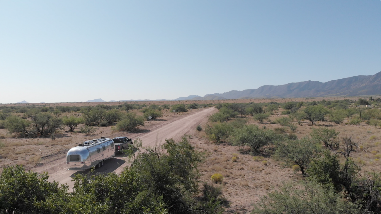 Airstream on Desert Road