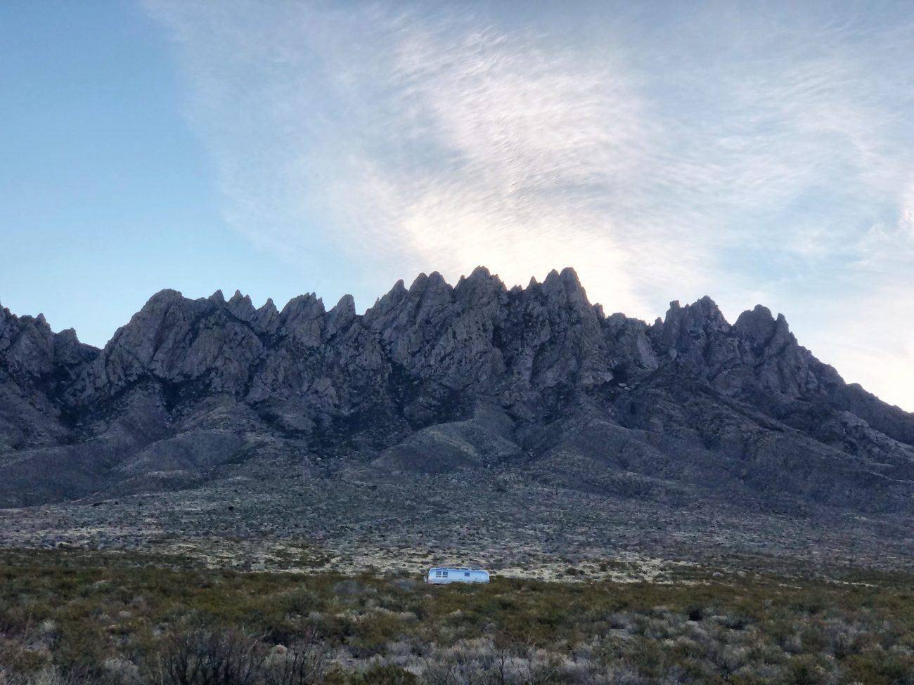 Airstream and the Organ Mountains