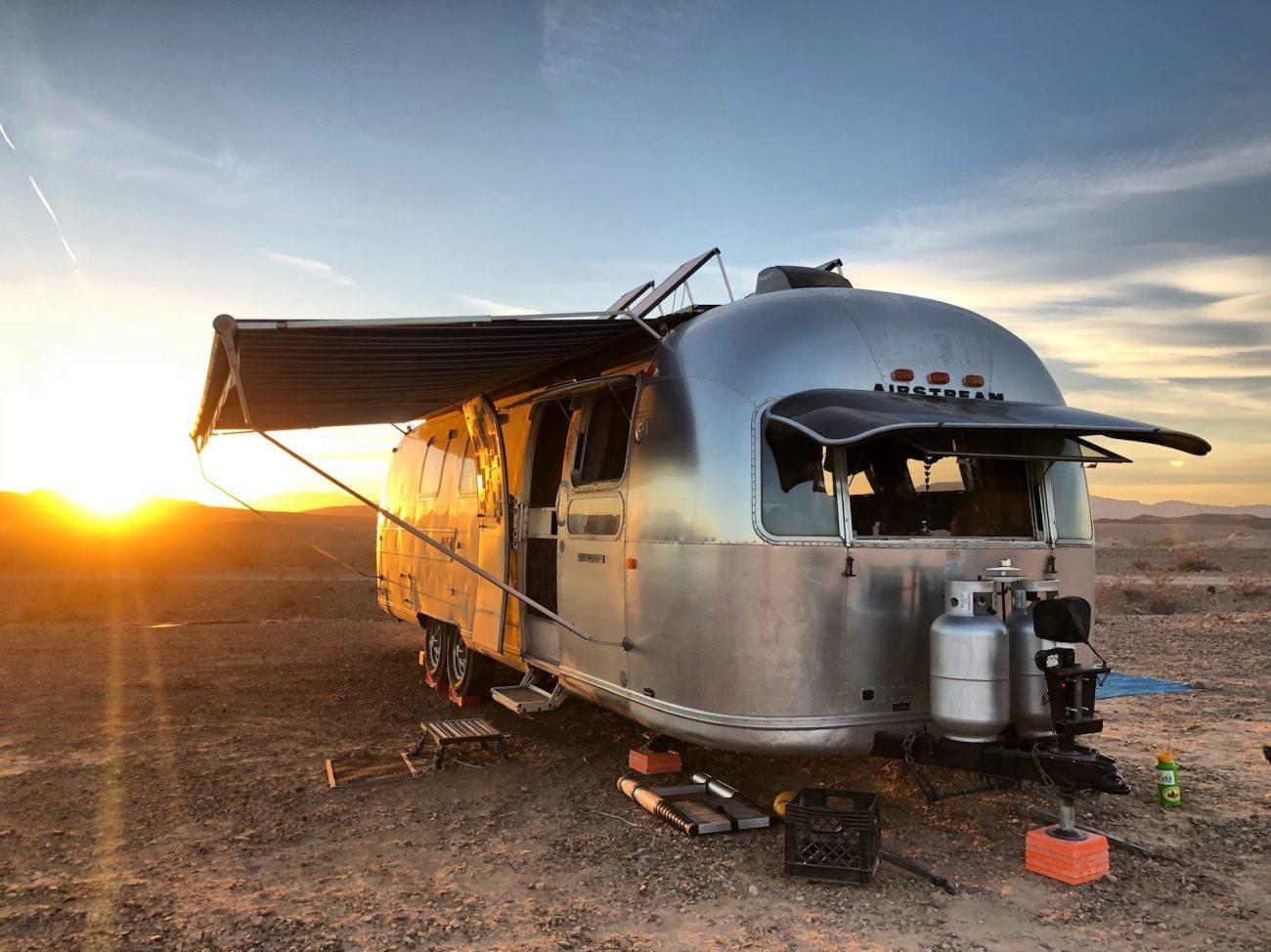 Airstream at Lake Mead