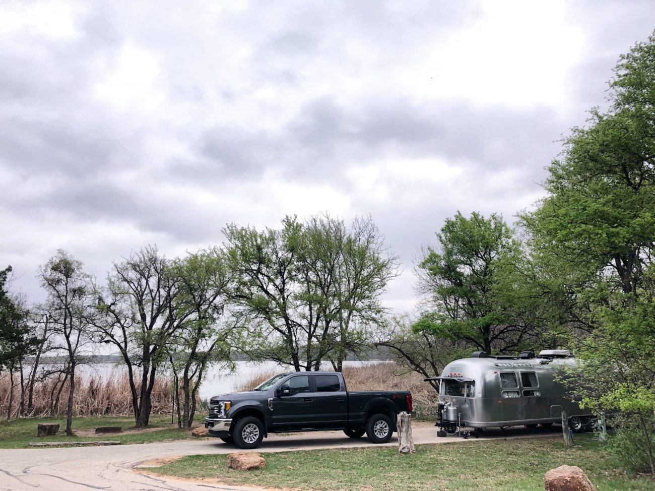 Airstream at Lake Mineral Wells State Park