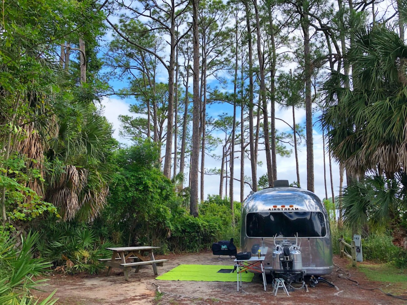 Airstream at St Andrews State Park