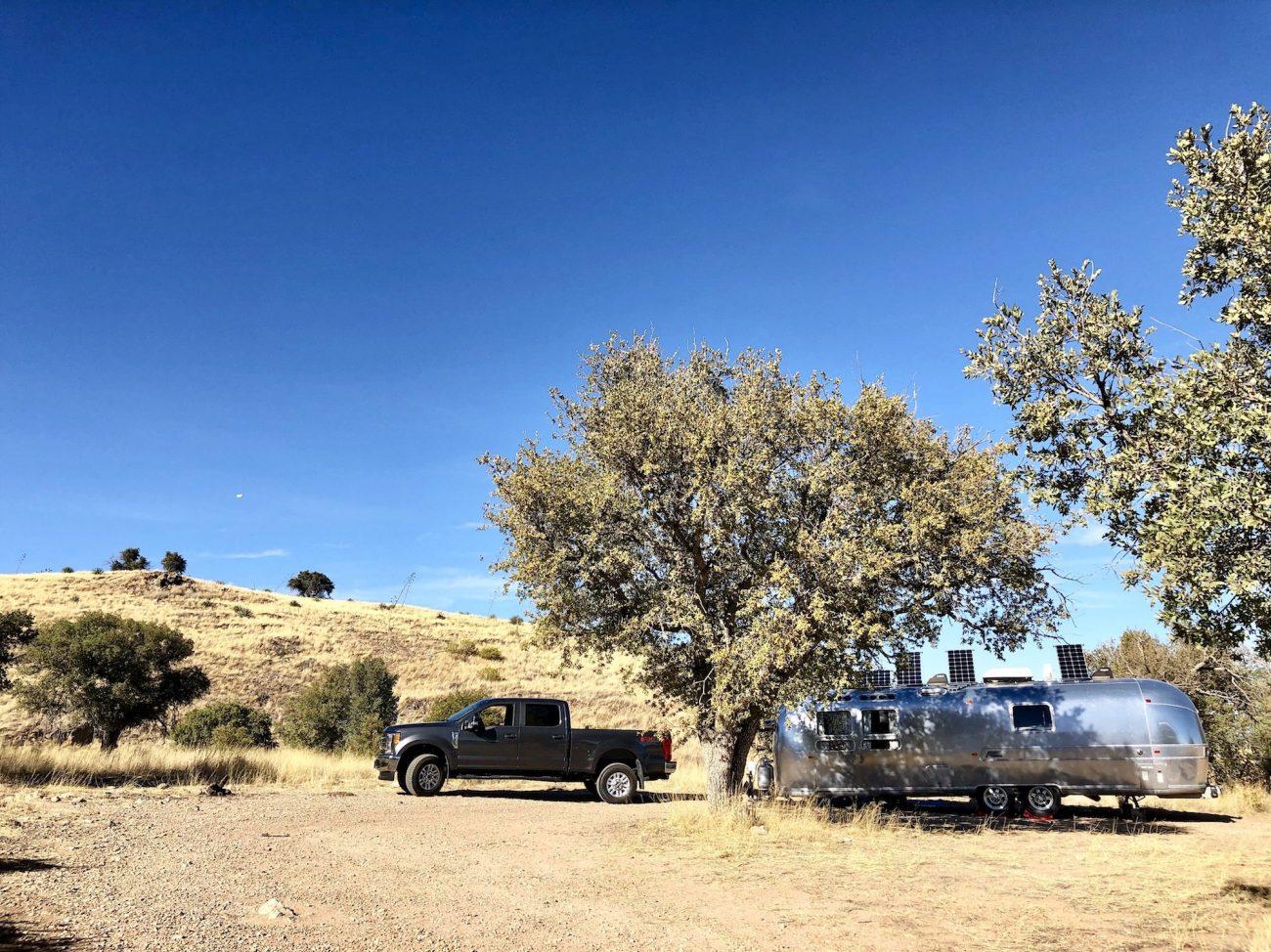Airstream boondocking in Hereford, AZ