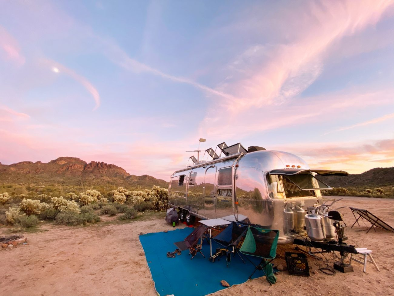 Airstream in Arizona Sunset