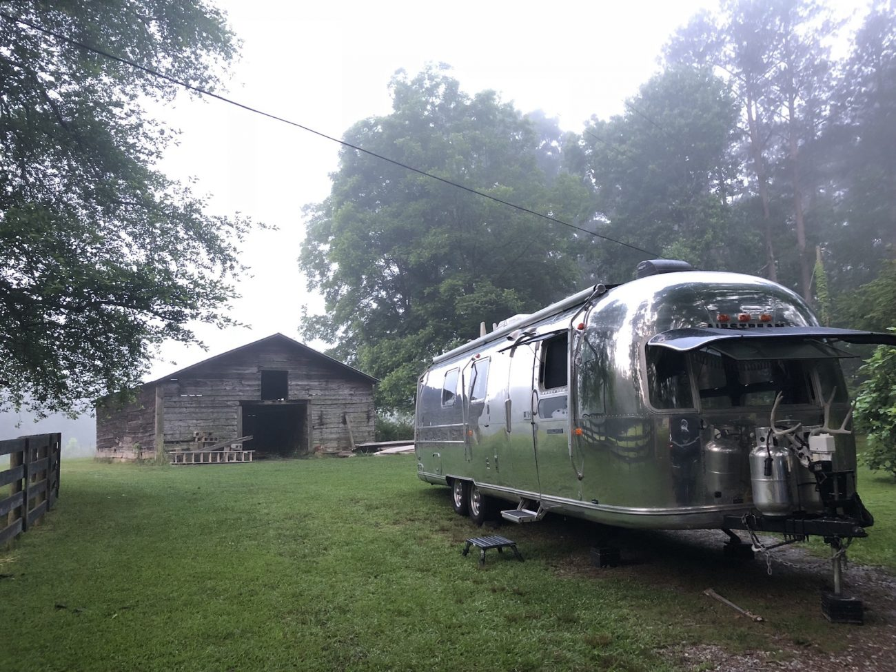 Airstream in GA with friends