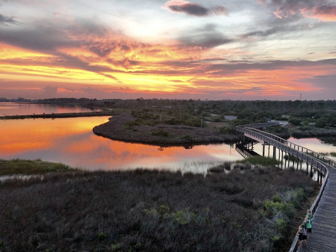 Big Lagoon State Park Lookout at Sunset