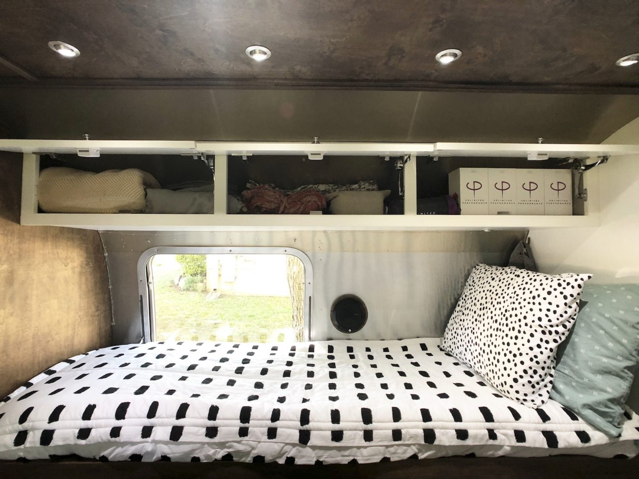 Overhead storage in Airstream
