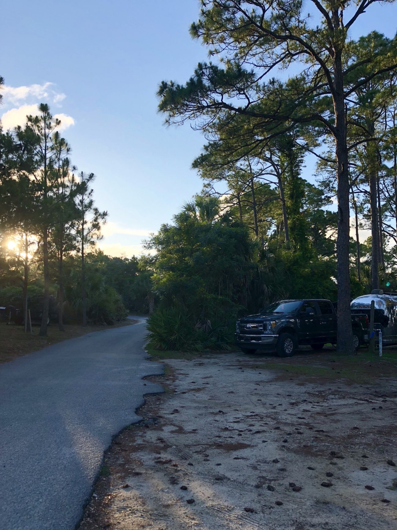 Campsite at St Andrews State Park