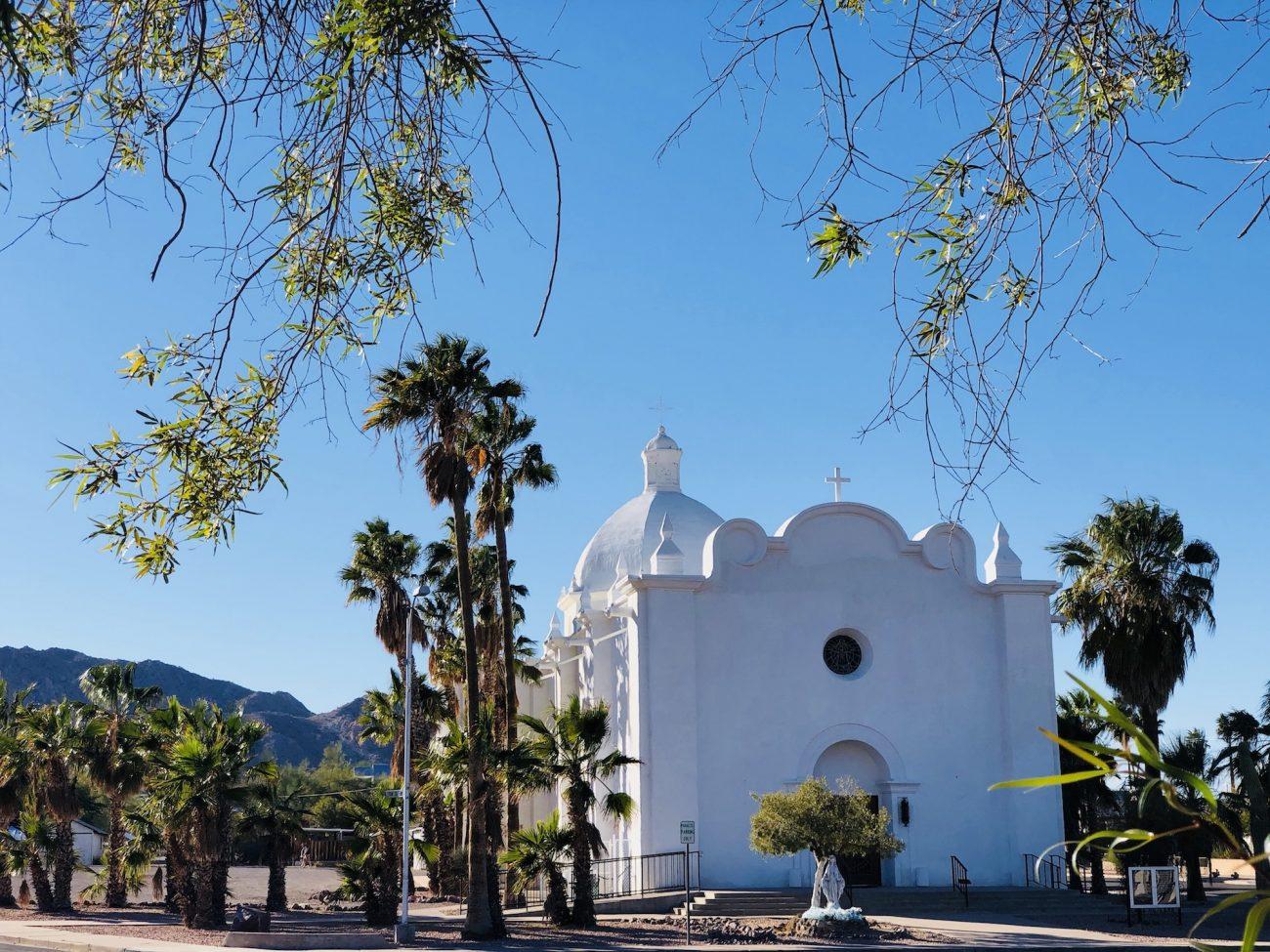 Church in downtown Ajo, AZ