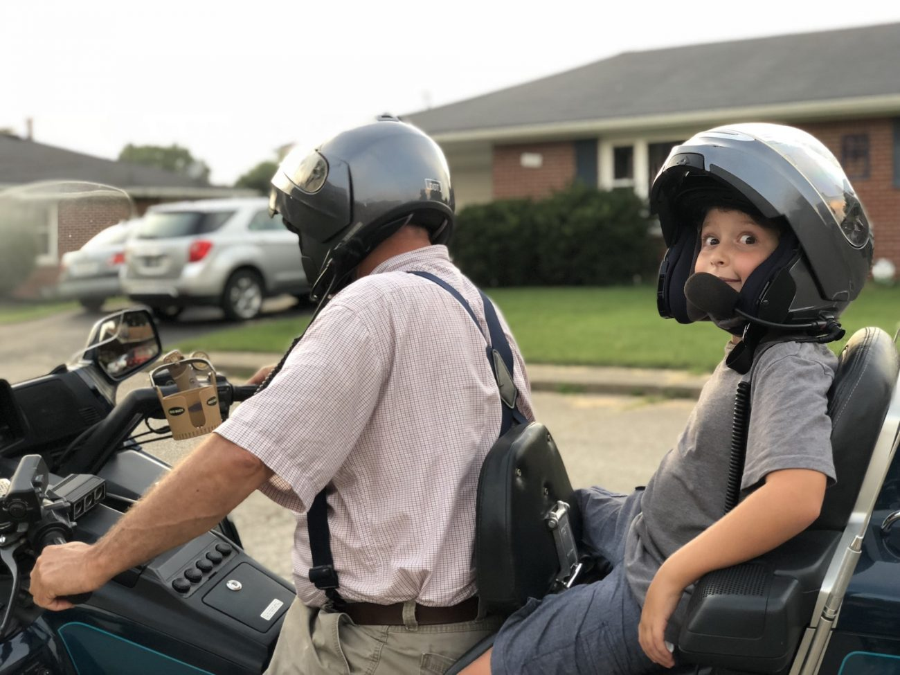 Jax takes a motorcycle ride