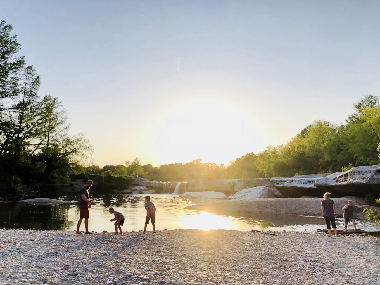 McKinney Falls State Park at Sunset