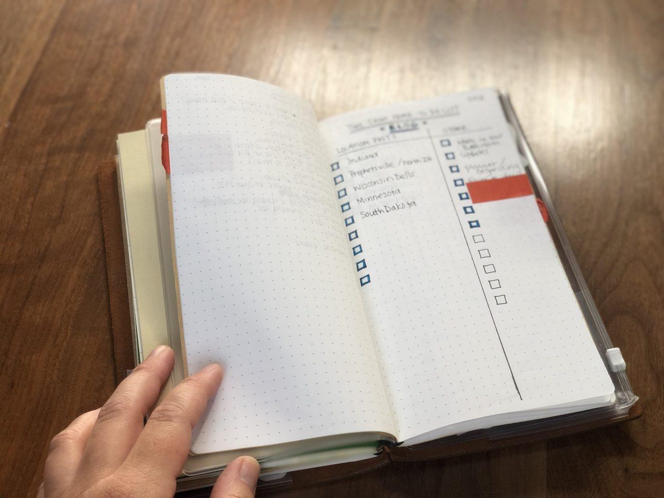 Travelers Notebook - Grid