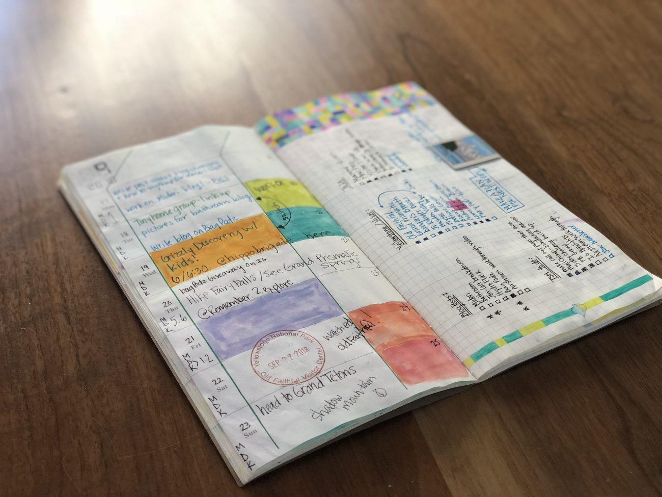 Travelers Notebook Weekly Calendar