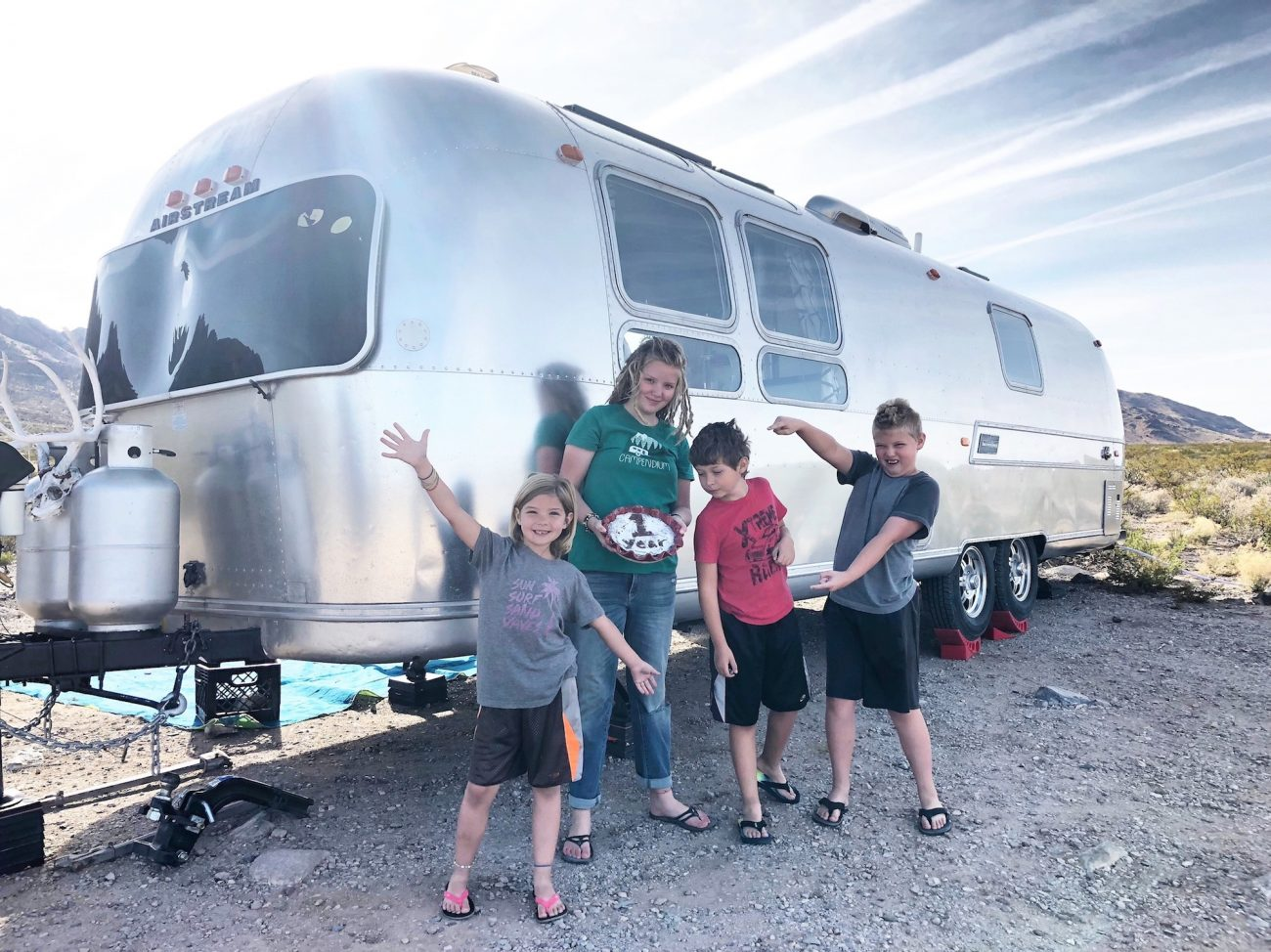 one year celebration in Airstream