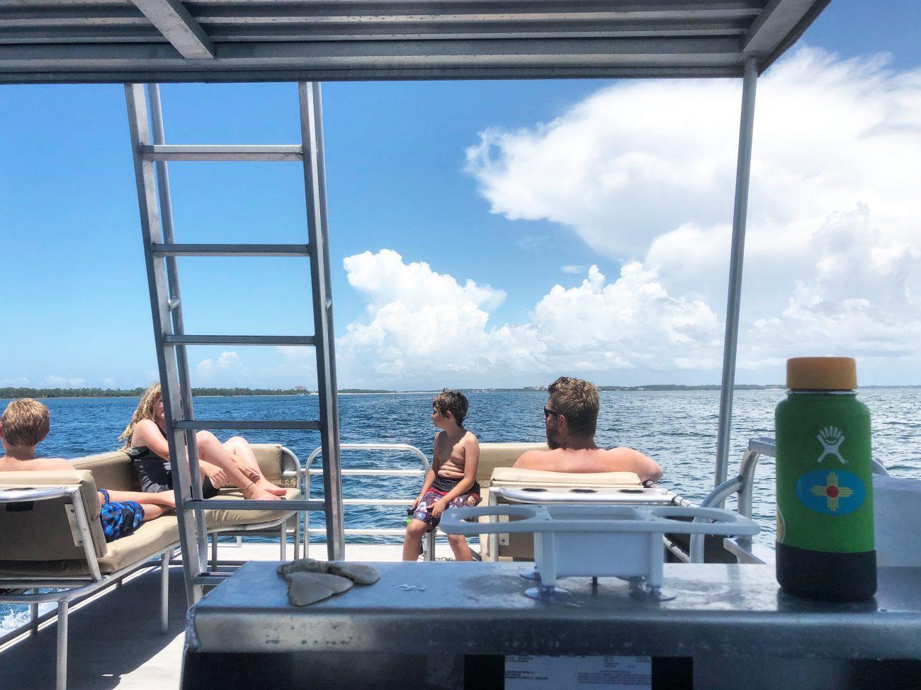 Pontoon boat in Panama City Beach, FL