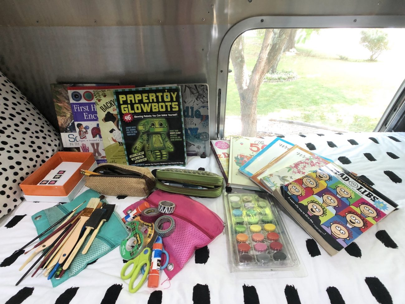 School Supplies in Airstream