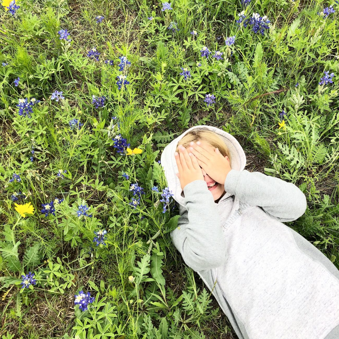 Ada in Wildflowers at McKinney Falls State Park