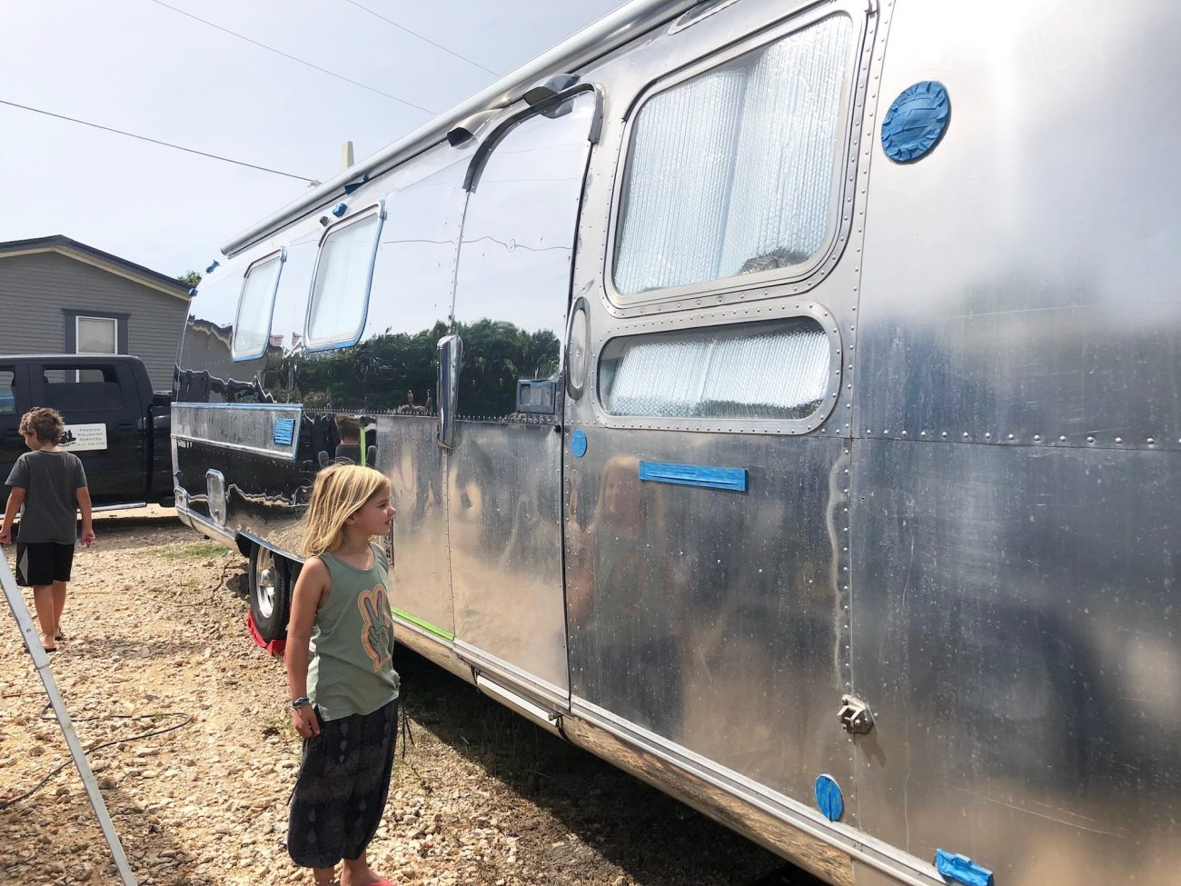 Ada With Airstream Getting Polished