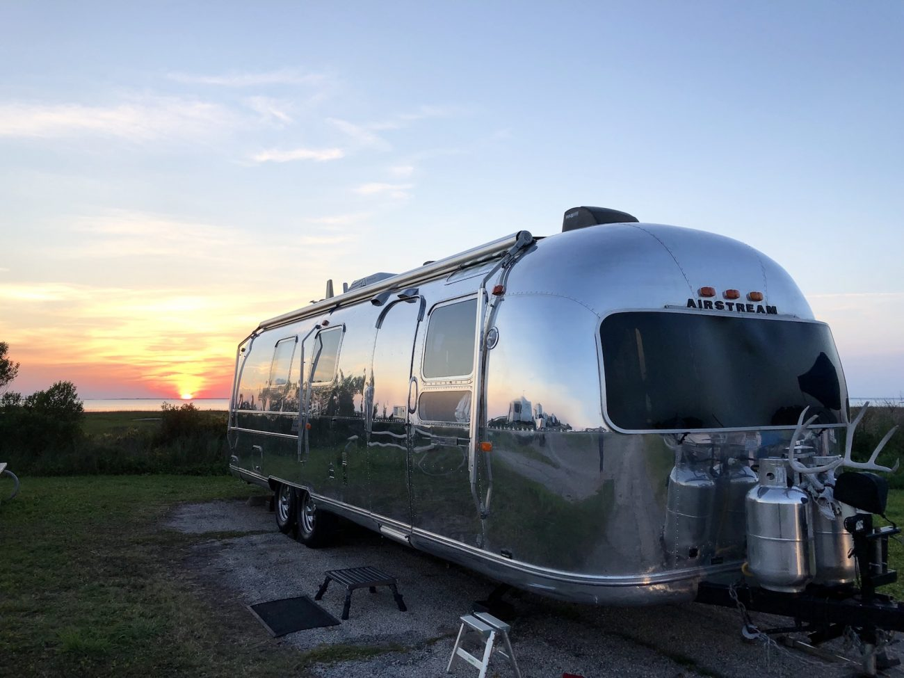 Vintage Airstream at Sunset