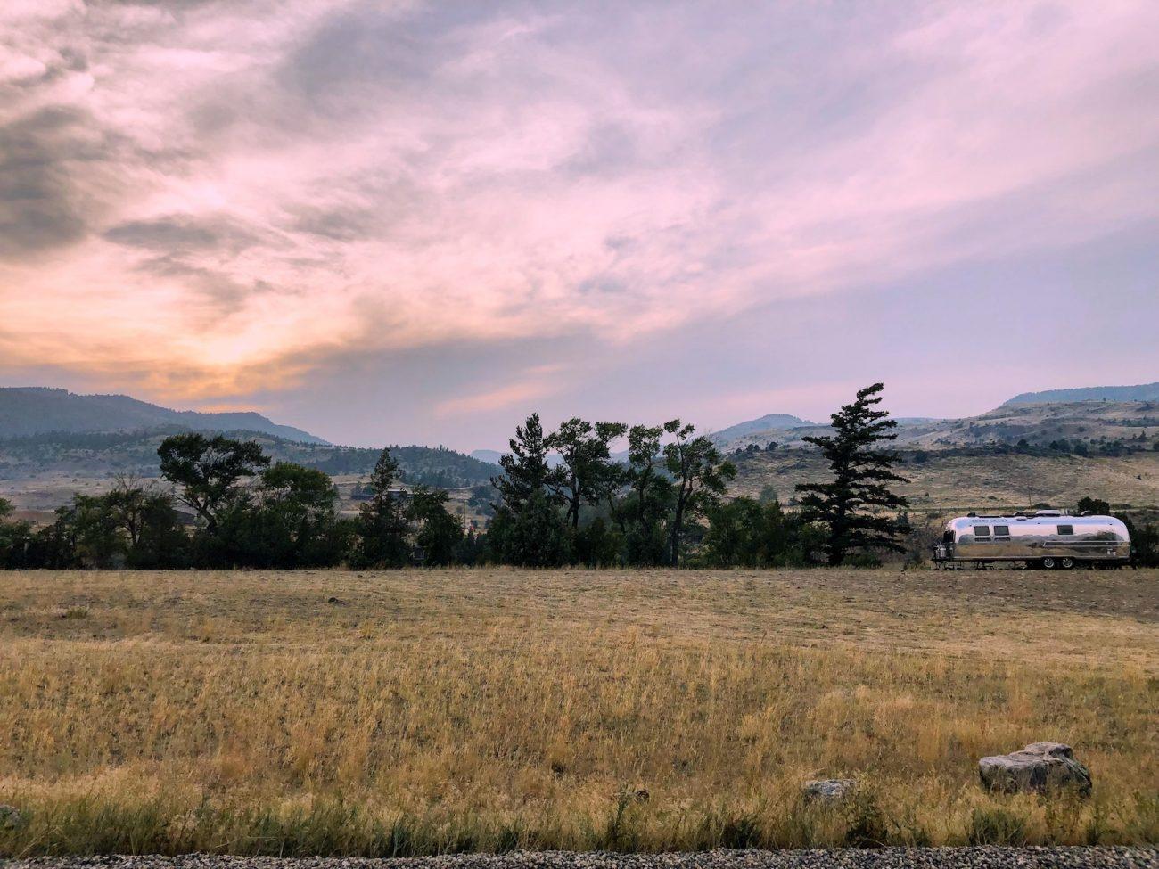 Montana Sunset with Airstream