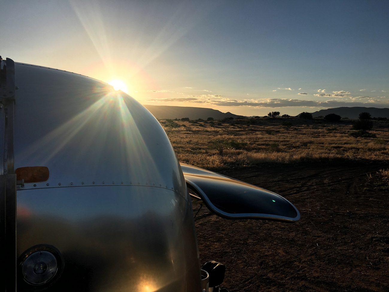 Airstream In Sedona Sunset