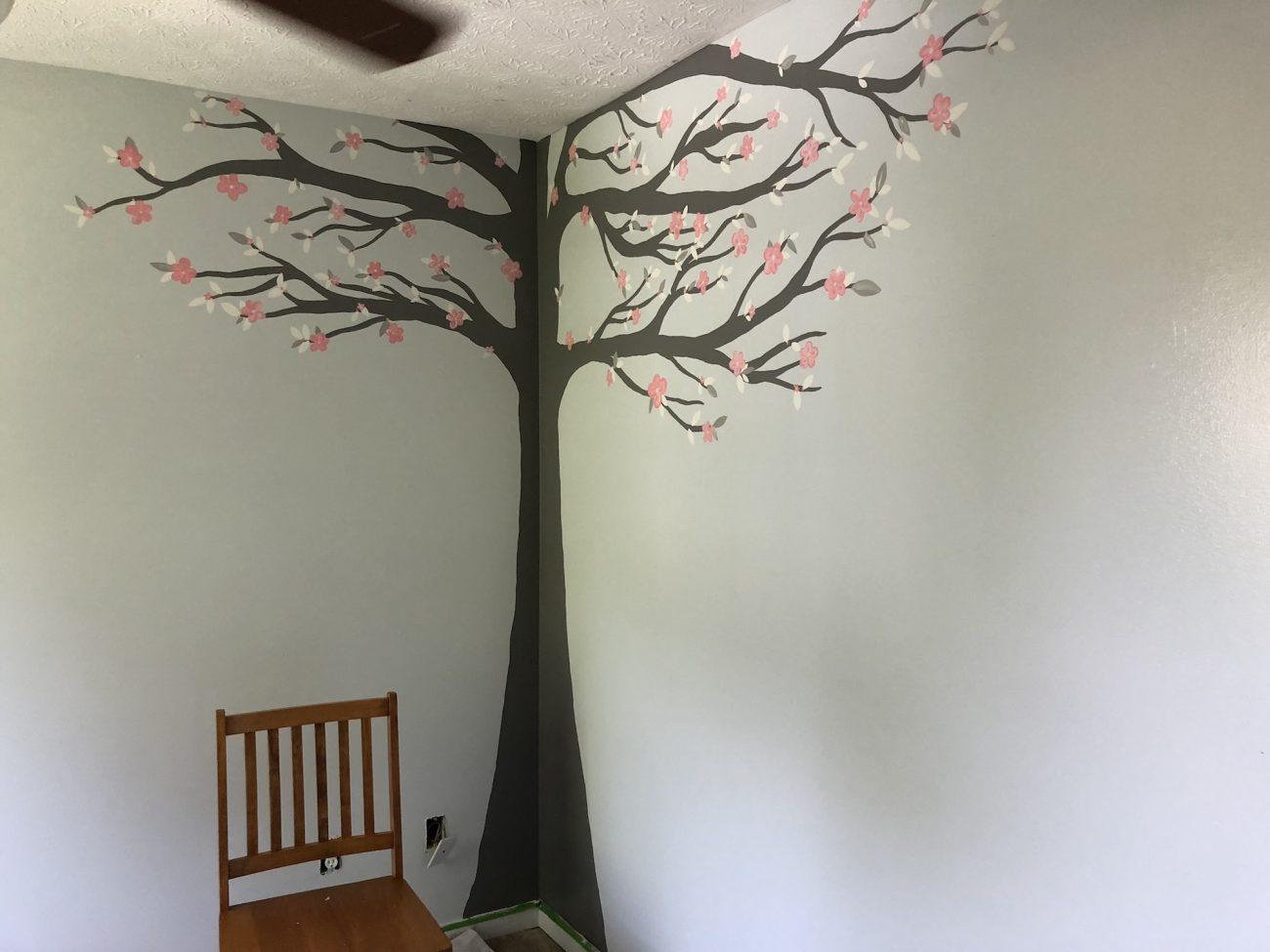 baby girl nursery tree