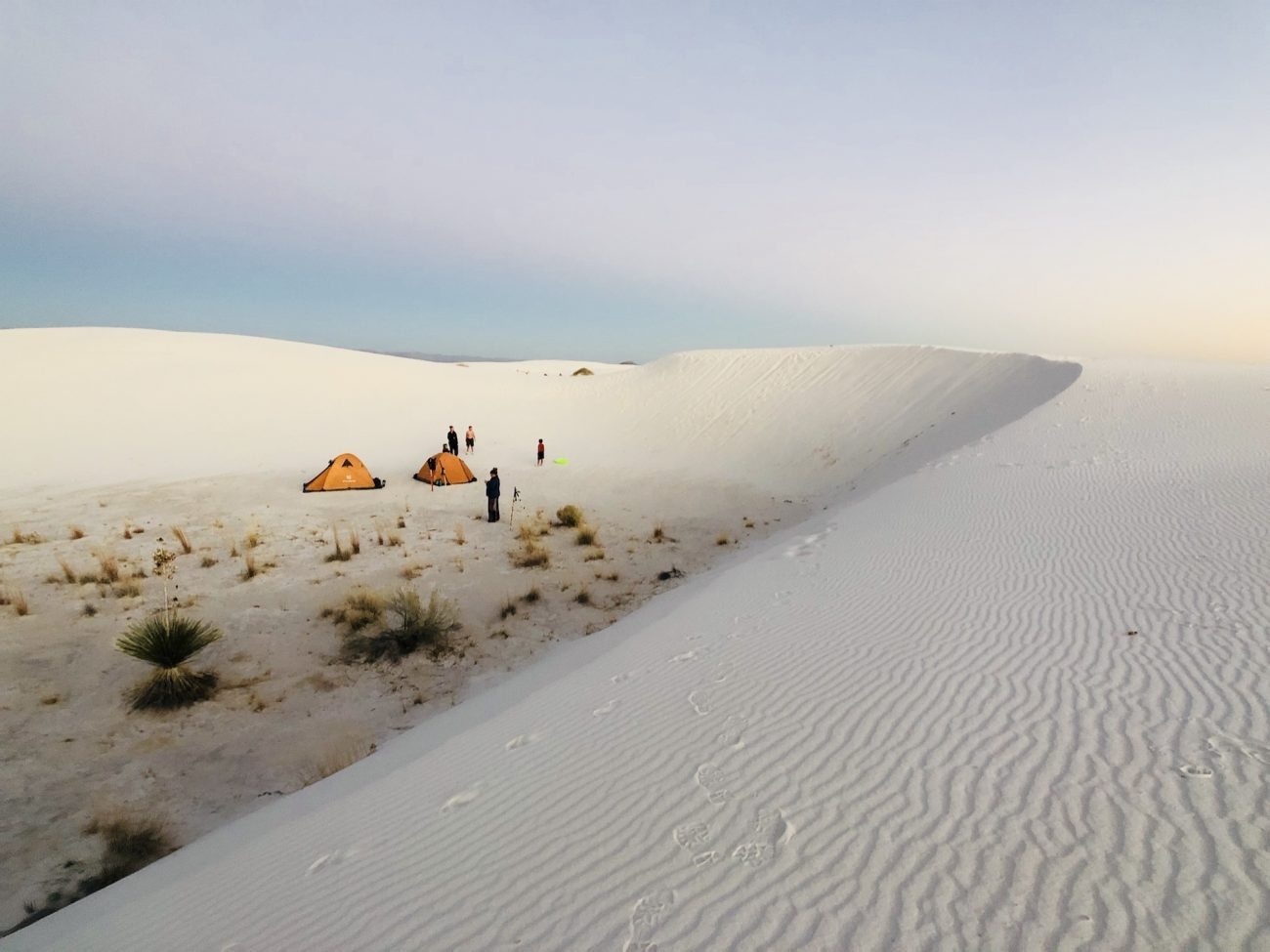 Camp at White Sands