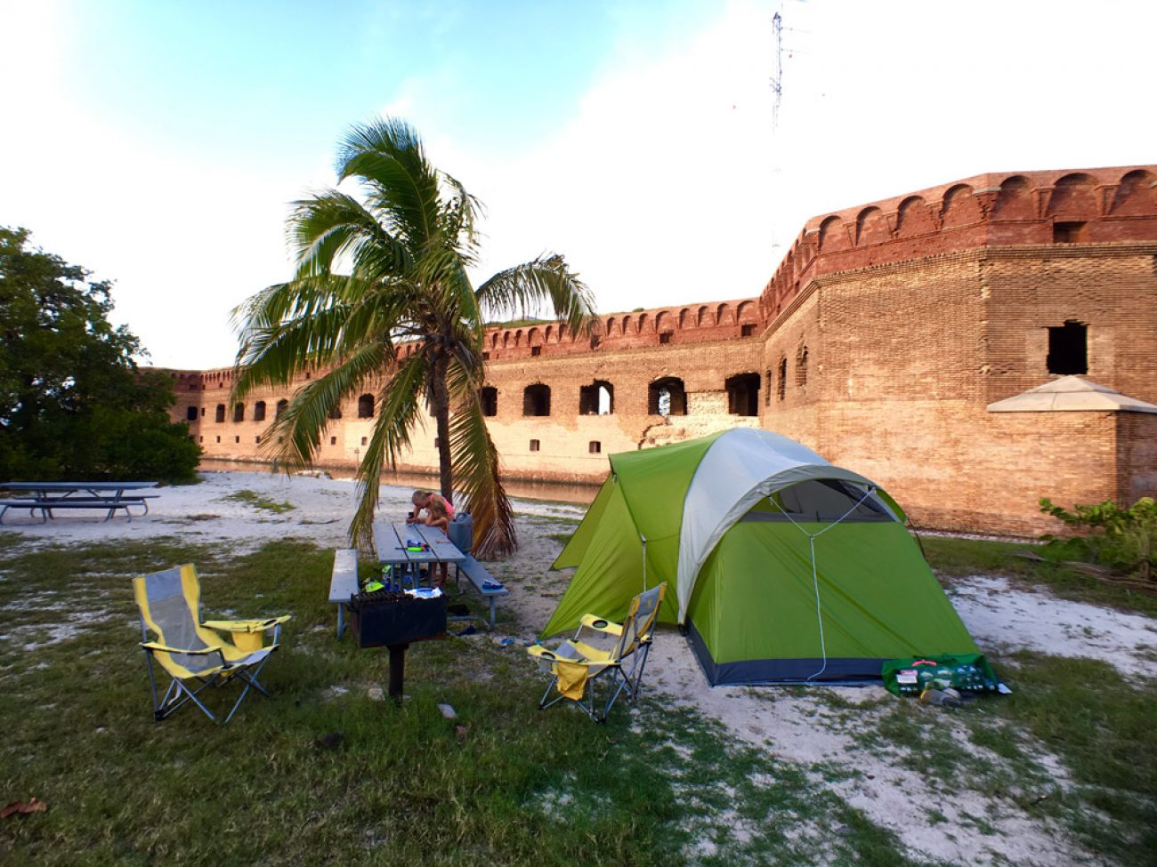 Campsite at Dry Tortugas