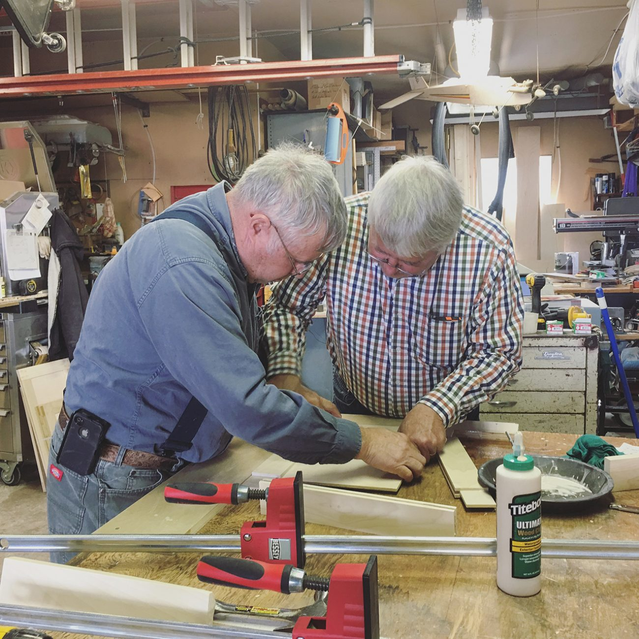 Dad And Fred Making Panel Doors