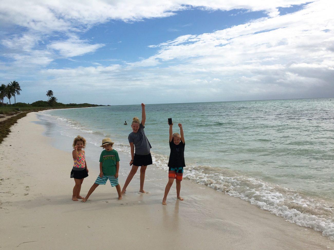 December 2015 Kids together on beach