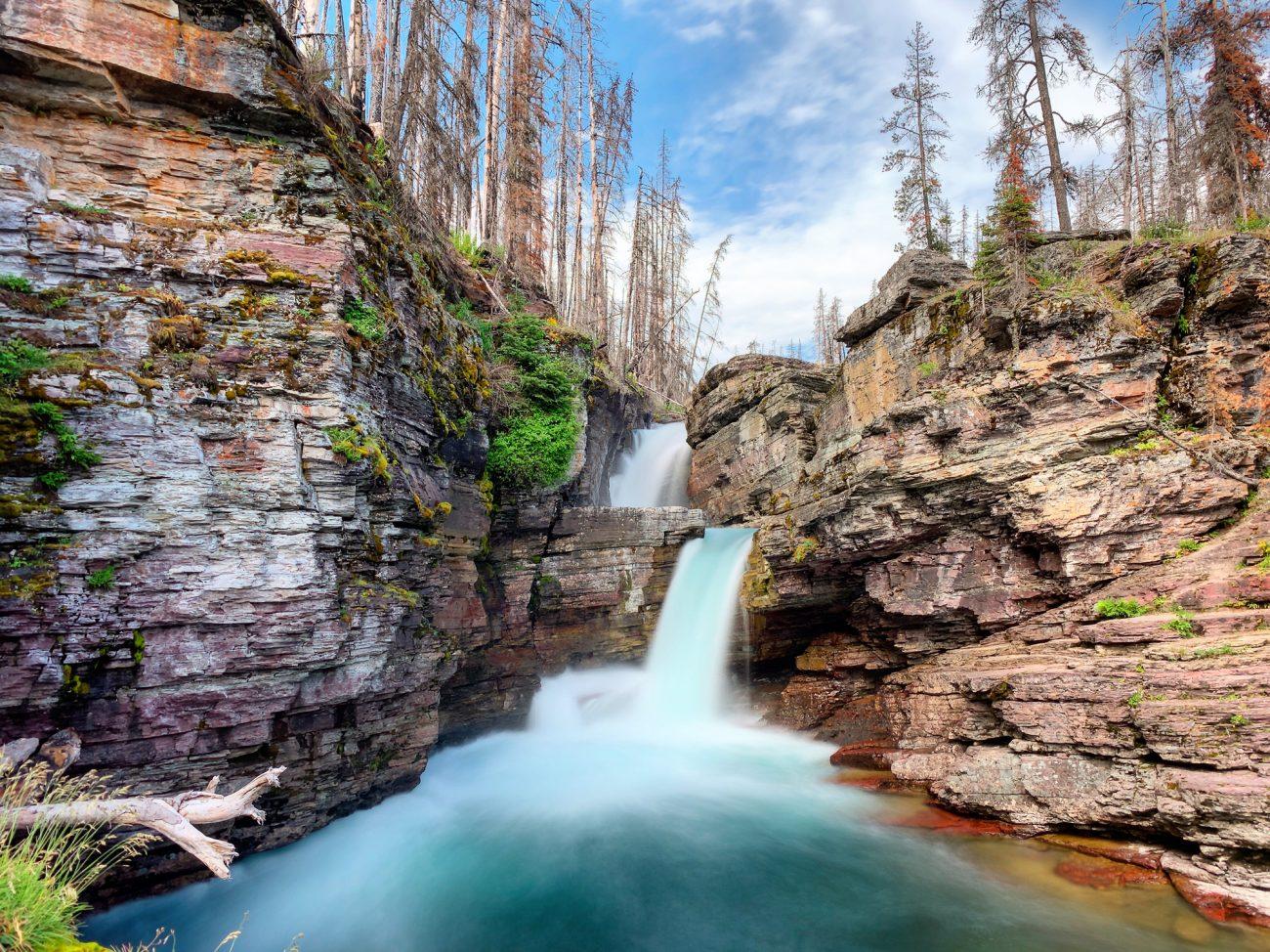 Glacier Waterfall Blurred
