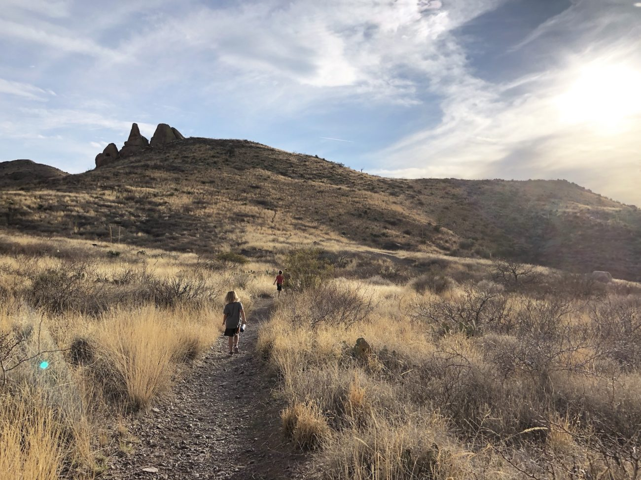 Hiking at Dripping Springs Natural Area