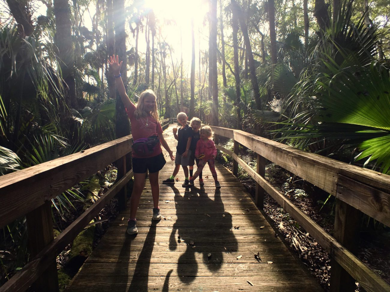 Kids at highlands hammock state park