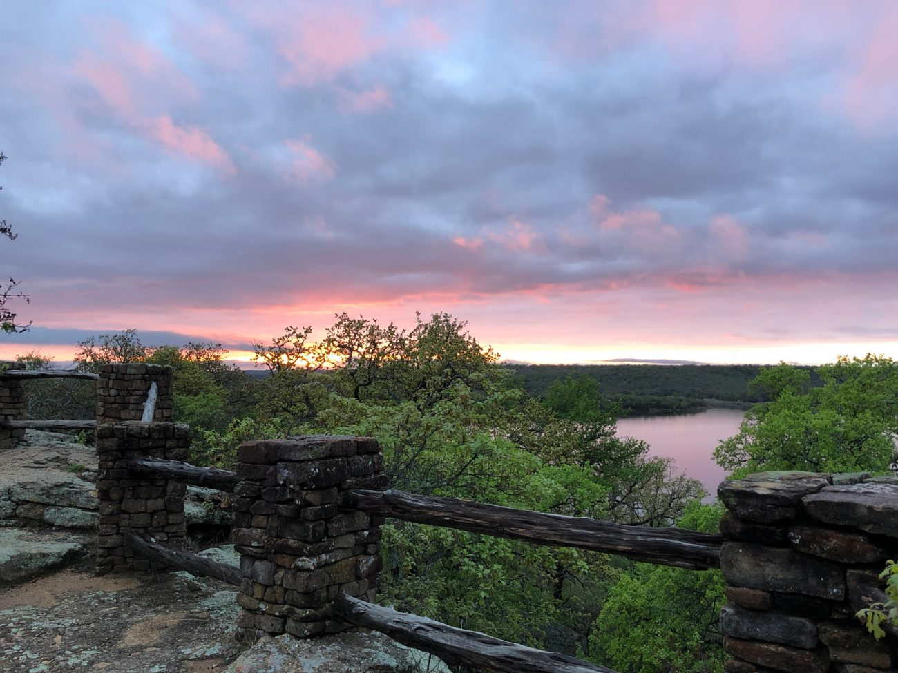 Lake Mineral Wells Sunset Rocks