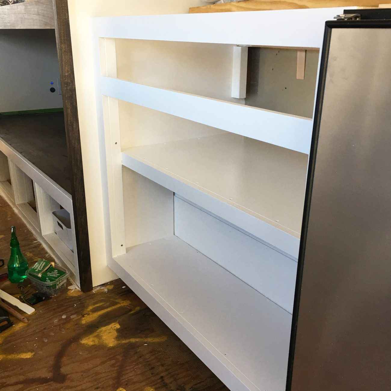Lower Pantry Cabinet Painted