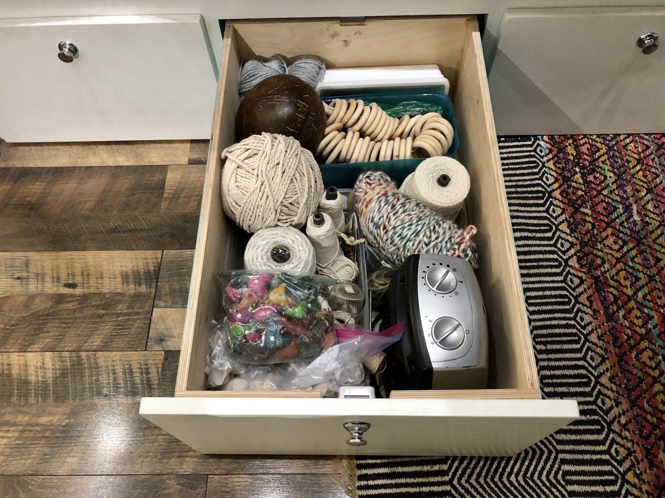 macrame supply drawer
