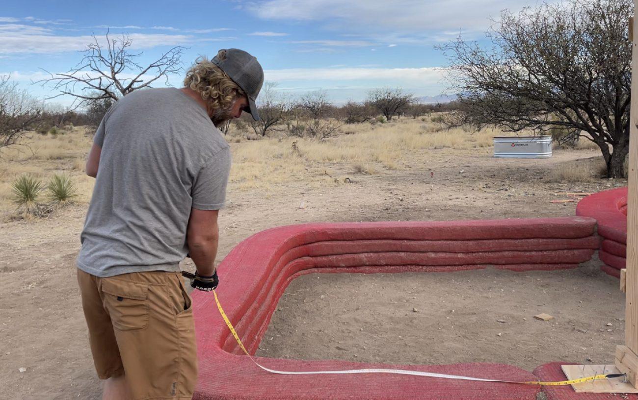 Measuring for Hyperadobe Earthbags