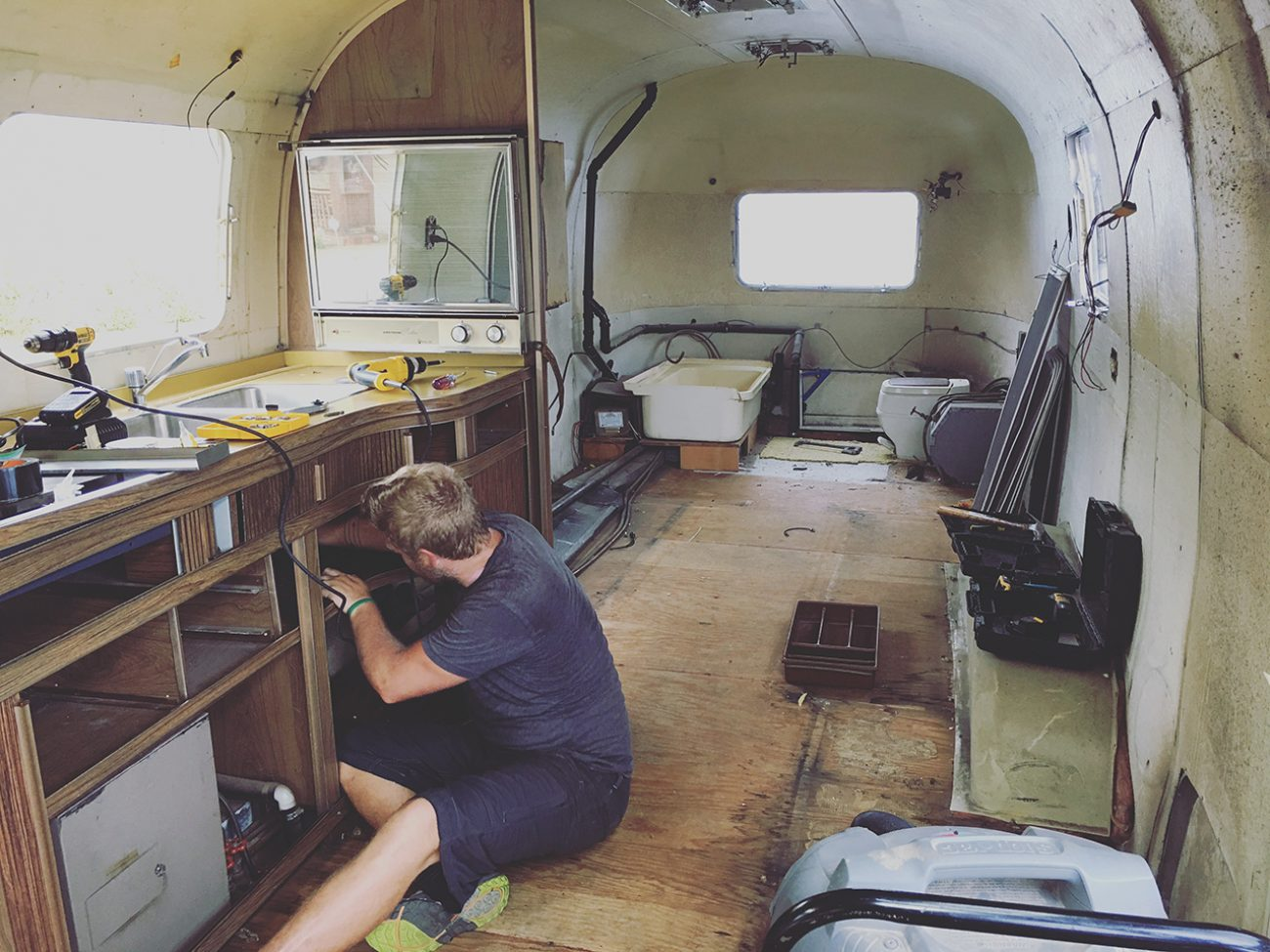 airstream renovation week 1 tiny shiny home
