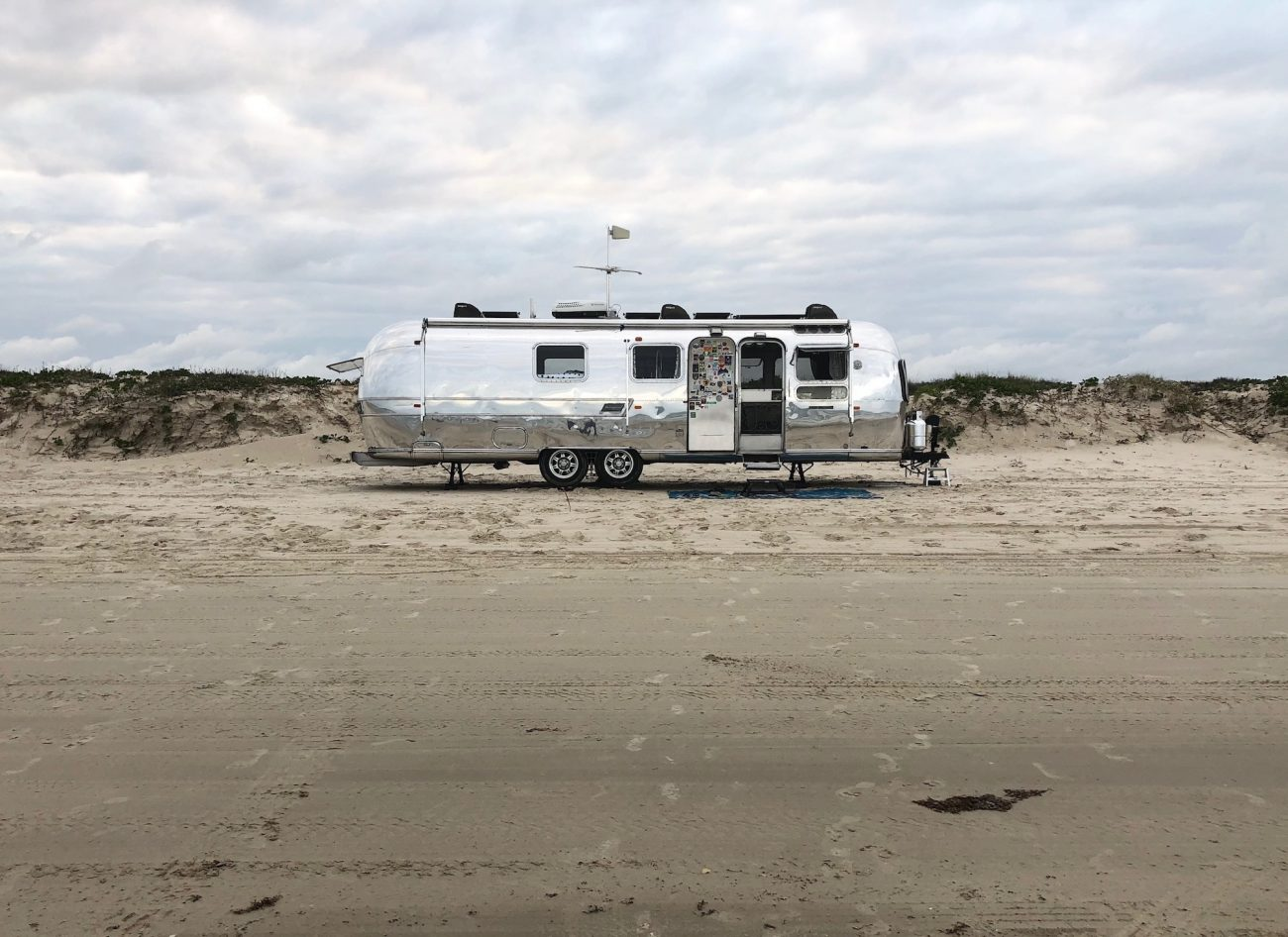 Polished Airstream on Beach