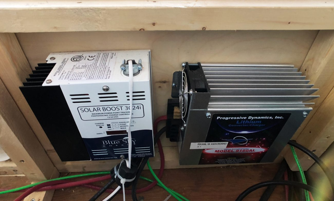 Planning Solar Electrical Installation In Our Airstream Renovation Power Point Wiring Charge Controller Converter