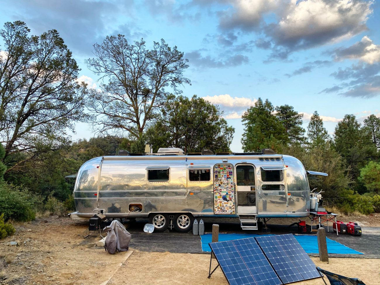 Using two Renogy 200W Solar Suitcases to power our Airstream.