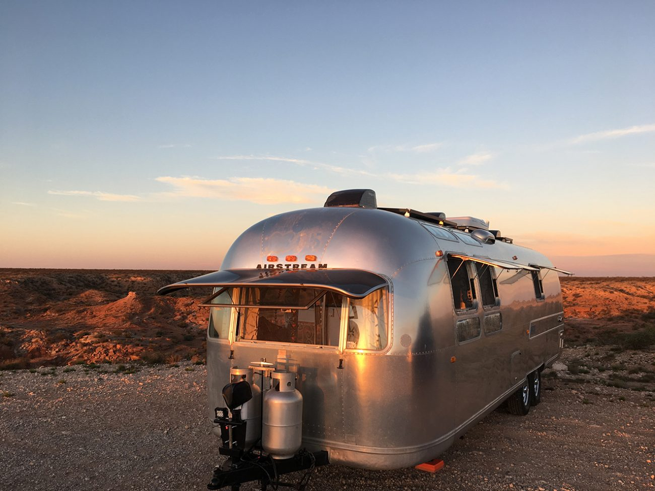 Sunset Airstream Roswell Awesome