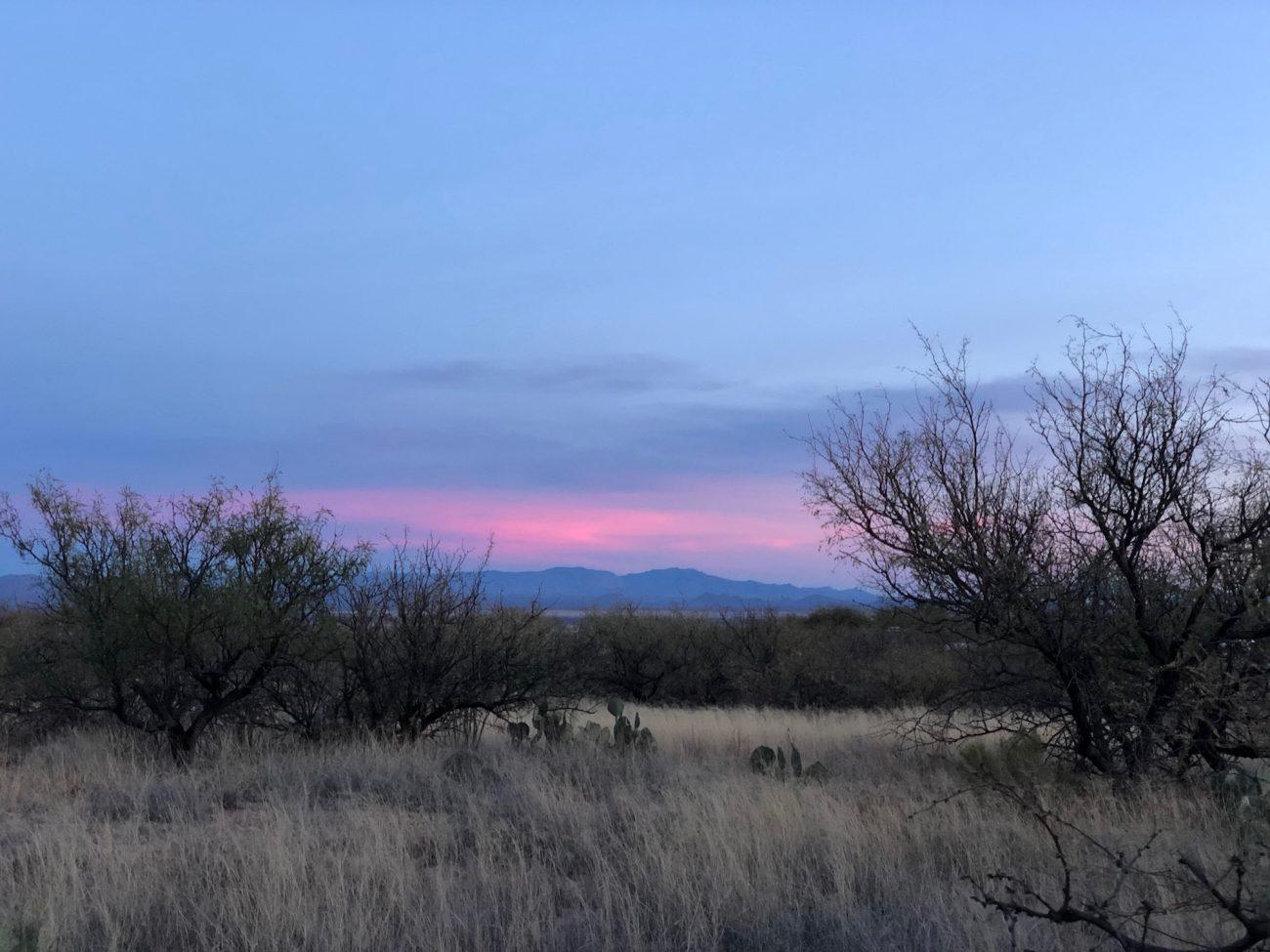 Sunset at Kartchner Caverns State Park