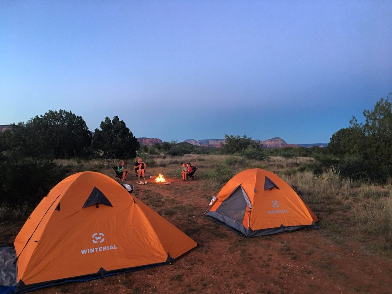 Tents Set Up In Sedona