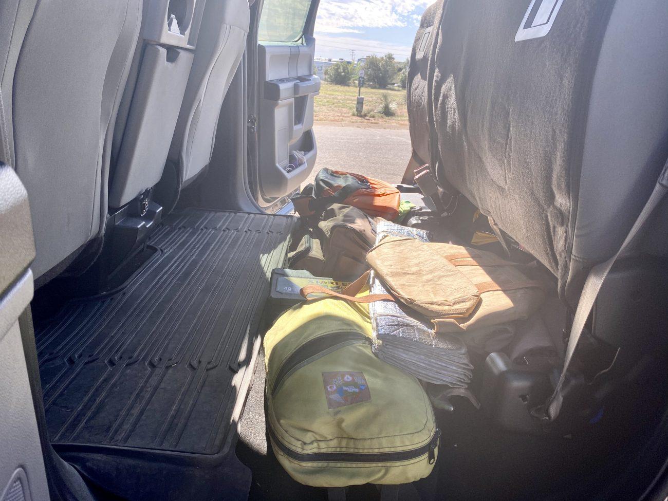 F250 Under Back Seat Storage