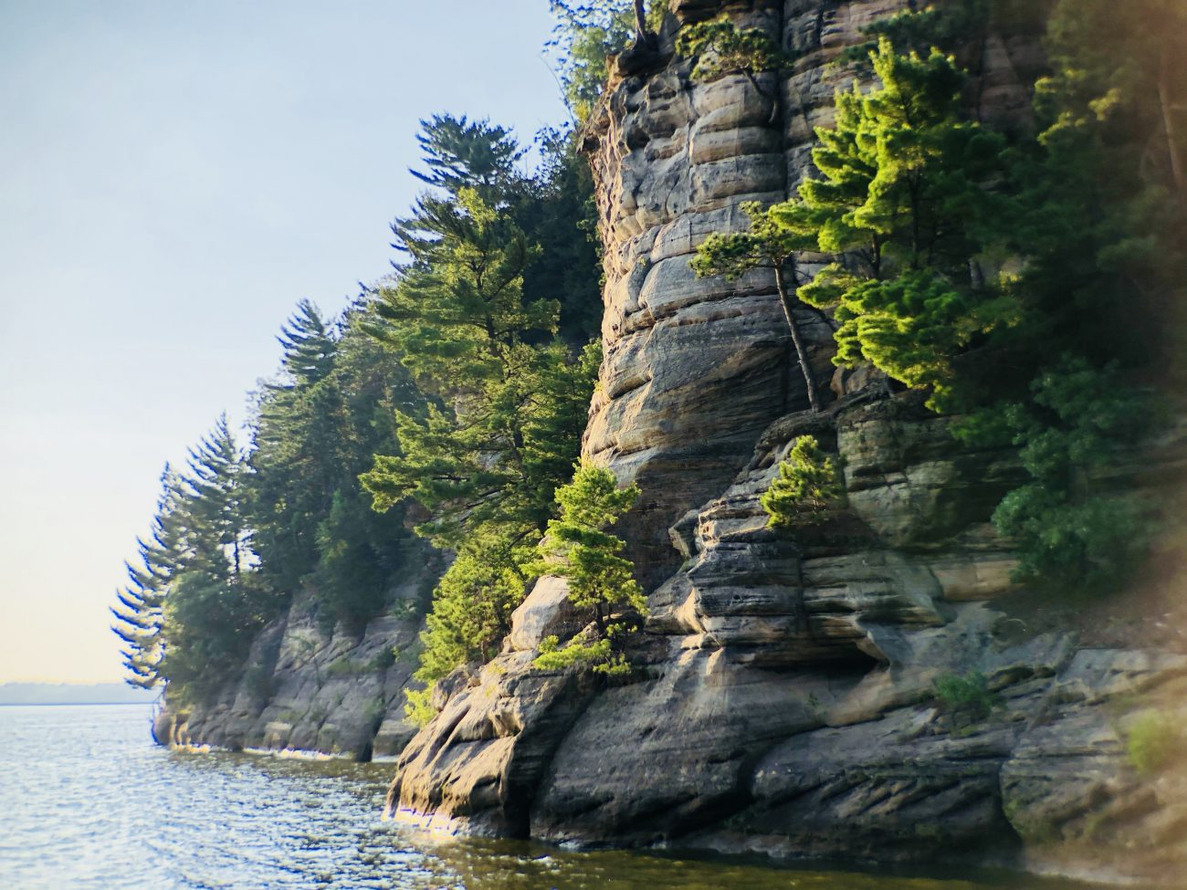 Wisconsin Dells Boat Rocks Sunset