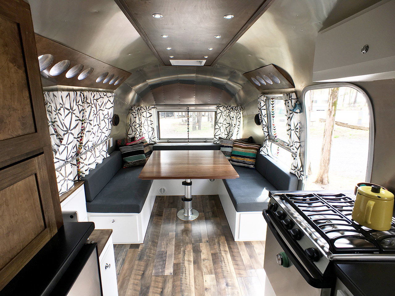 Airstream Renovation Tiny Shiny Home Simple Airstream Interior Design